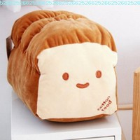 "Small Ver. Dual Face Bread Plush Cushion Pillow 10"" Decoration Good Gift for Every Special Day:Amazon:Home & Kitchen"