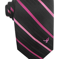 Susan G Komen Tie, Open Stripe - The Pink Shop - Women - Macy's
