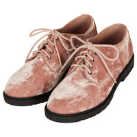 METRO Velvet Lace Up Shoes - The Velvet Touch - New In - Topshop USA