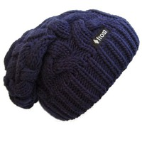 Frost Hats Winter Hat for Women Slouchy Beanie Cable Hat Knitted Winter Hat Frost Hats (Navy Blue)