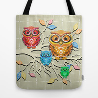 Little Hoots Tote Bag by Lisa Argyropoulos
