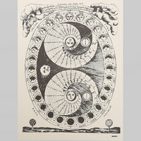 Margins Lunar Calendar Poster- White One