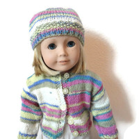 American Girl Doll Knit Sweater Hat Set