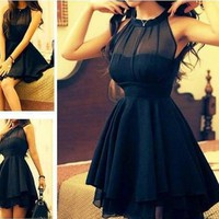 Mesh front Cute Slim Dress for Women