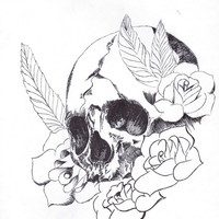 Flowers of Death Art Print by Monica_B
