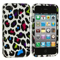 Protector Cover Case - Colorful Leopard for Apple iPhone 4 (AT&T) / iPhone 4 (Verizon) Phone: Cell Phones & Accessories