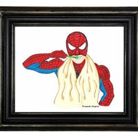 A3 Print. Superhero wall art. Spiderman Print.