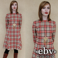 Vintage 70s Pendleton Wool Plaid Dress Vintage Plaid Dress Vintage Pendleton Dress Tartan Plaid Dress