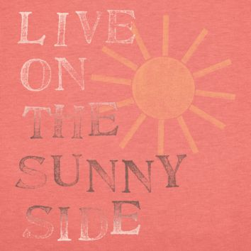 Women's Life On The Sunny Side Long Sleeve Creamy Tee | Sun Tee Shirts | Life is good