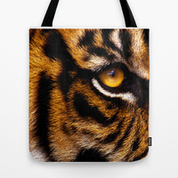 HIS ROYAL STRIPEYNESS Tote Bag by catspaws
