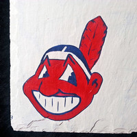 Slate sign, Cleveland Indians, baseball personalize