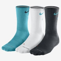 Nike Dri-FIT Cotton Fly Crew Socks 3 Pair - Gamma Blue