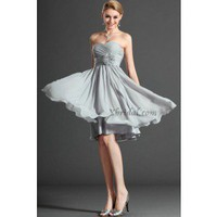 A-Line Sweetheart Knee-Length Chiffon Prom Dress SAL1055