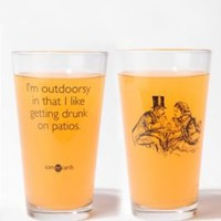 UrbanOutfitters.com > I'm Outdoorsy Pint Glass