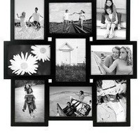 Amazon.com: Black PUZZLE collage displays 9 5x7 photos - 5x7: Home & Kitchen