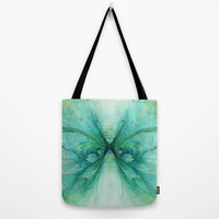 Butterfly Blue Tote Bag by Ally Coxon