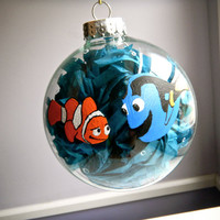 Finding Nemo Inspired Christmas Ornament Disney by ClarityArtwork