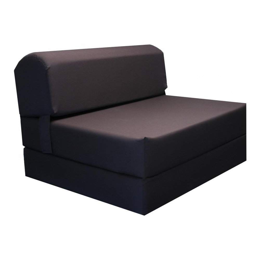 Tri fold Brown 70 inch Foam Chair Bed