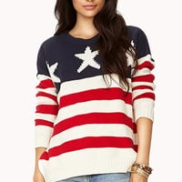 Oversized American Flag Sweater | FOREVER 21 - 2000050386
