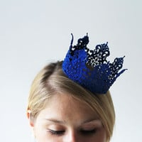 Blue Princess Crown - fairy tale, royalty, halloween costume, queen
