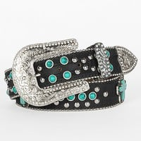 Blazin Roxx Stone & Stud Belt - Women's Accessories | Buckle