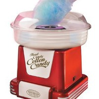 Nostalgia Electrics PCM-805RETRORED Retro Series Hard & Sugar-Free Candy Cotton Candy Maker