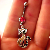 Belly Button Navel Ring Cat Naval Halloween