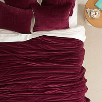 Anthropologie - Stitched Velvet Coverlet