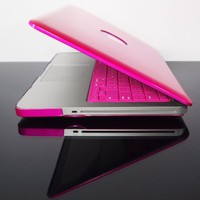 TopCase Metallic Solid Hot Pink Hard Case Cover for Macbook Pro 13 A1278 with Free Mouse Pad