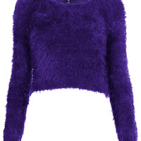 Knitted Fluffy Crop Jumper - New In This Week  - New In