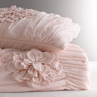 Washed Appliquéd Fleur Duvet Cover