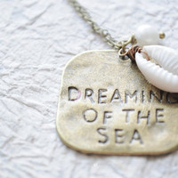 Dreaming of the Sea Antiqued brass necklace by littlejarofhearts