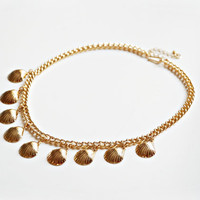 Gold Shells Statement Necklace