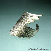 Archangel style No 2 Angel wing ear cuff earring by RingRingRing