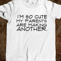Supermarket: I'm So Cute Kids' Shirt from Glamfoxx Shirts