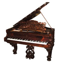 79.7124 Magnificent Antique Steinway Model B Grand Piano
