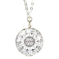 "One Kings Lane - Close to Your Heart - 1-3/8"" Silver Round Locket, 20"" Chain"