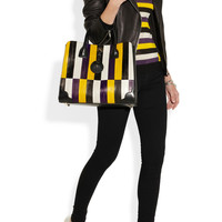 Jason Wu | Jourdan striped eel and leather tote | NET-A-PORTER.COM