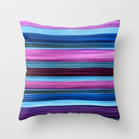 SIMPLY STRIPES 2 Throw Pillow by catspaws