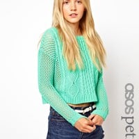 ASOS Petite | ASOS PETITE Exclusive Crop Sweater in Knit at ASOS