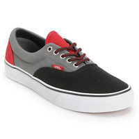 Vans Era Black, Castle Rock, & Red Skate Shoe at Zumiez : PDP