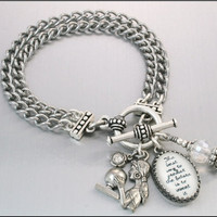 Simply Charming Bracelet Quote Silver by BlackberryDesigns on Etsy