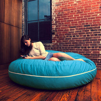 Jaxx Twill Cocoon 6ft Bean Bag Chair at Brookstone—Buy Now!