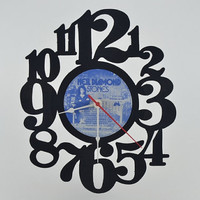 Unique Handmade Vinyl Record Wall Clock (artist is Neil Diamond)