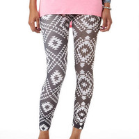 Black & White Diamond Legging Crop