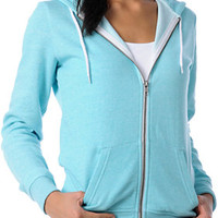 Zine Girls Aqua Salt & Pepper Zip Up Hoodie at Zumiez : PDP
