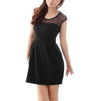 Amazon.com: Allegra K Ladies A Line Heart Sheer Mesh Upper Slipover Mini Dress: Clothing