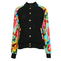 ZLYC Vintage Style Tribal Aztec Striped Jacket for Women