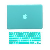 "Amazon.com: TopCase® 2 in 1 Rubberized TIFFANY BLUE Hard Case Cover and Keyboard Cover for Macbook Pro 13-inch 13"" (A1278/with or without Thunderbolt) with TopCase® Mouse Pad: Computers & Accessories"