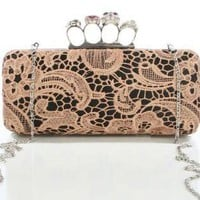 Multi Clutch - Lace Clutch with Ring Closure | UsTrendy